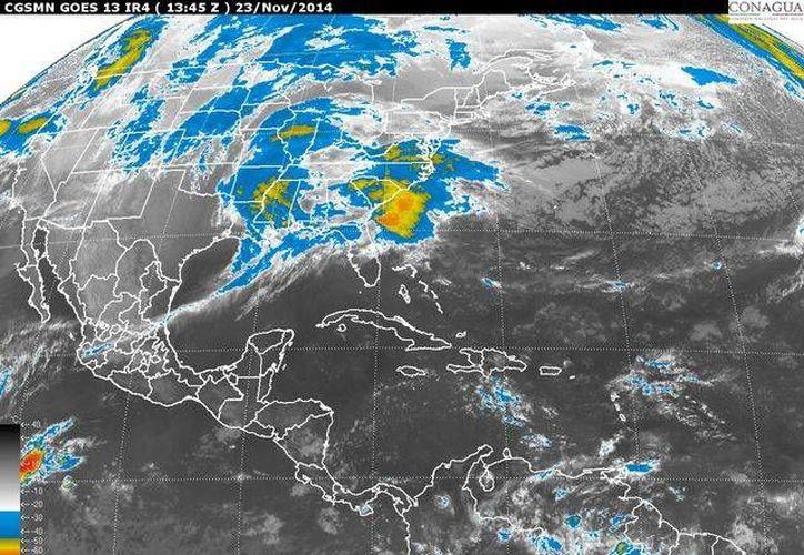 Se esperan lluvias menores a 25 milímetros en porciones de los estados del occidente, oriente, sur y de la Península de Yucatán. (Cortesía/Conagua)