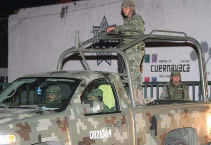 El Ejército también apoyó para el control de seguridad en Cuernavaca. (Javier Ríos/Milenio)