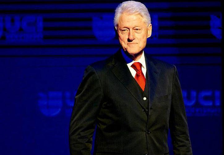 Desconocidos causaron un incendio en la casa donde el ex presidente de Estados Unidos, Wiliam Clinton (foto). (Archivo/NTX)