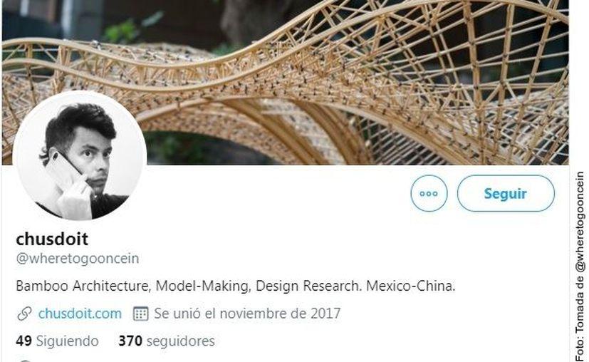 Jesús Daniel Stamatis Portugal es un arquitecto especializado en construcciones con el bambú como material principal, según lo expuesto en su biografía de Twitter. (Agencia Reforma)