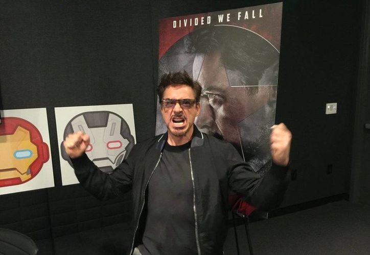 Robert Downey Jr. festejó su cumpleaños número 51 listo para el estreno de la cinta <i>Capitán América: Civil War</i> que llega a los cines en México, el 28 de abril. (Twitter: @RobertDowneyJr)