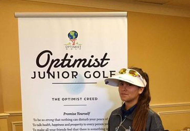 La golfista Ariel González Arceo concluyó la competencia con un score de 158 strokes para terminar en la tercera plaza de la división 11-13 años femenil. (Milenio Novedades)