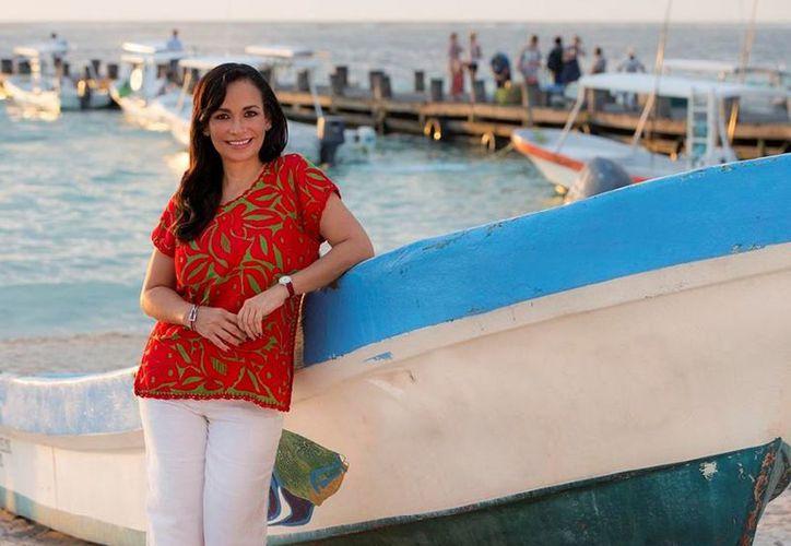 """""""El reto es llevar a este nuevo municipio al siguiente nivel, un Puerto Morelos con mayor desarrollo, con futuro prometedor"""", Laura Fernández Piña, presidenta electa. (Foto: SIPSE)"""