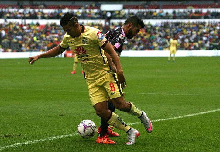 Imagen del partido entre el América y el Querétaro, en el cual las águilas perdieron 1-0. (Archivo/Notimex)