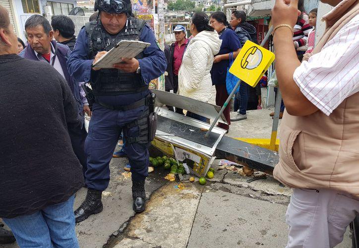 La zona fue acordonada por elementos policíacos para realizar las diligencias necesarias sobre los hechos. (Quadratín)