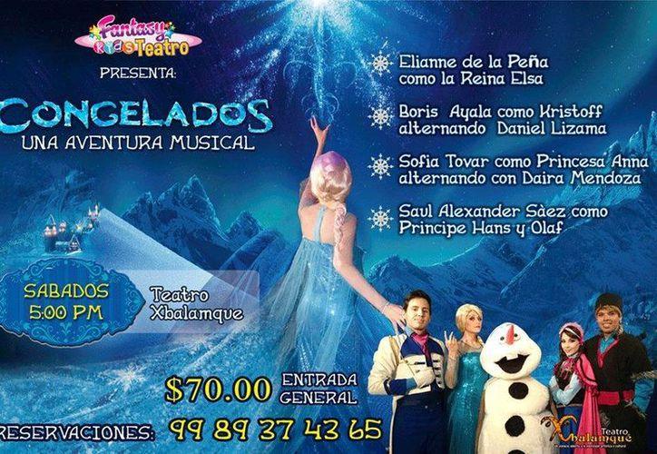 Para consentir a los 'reyes del hogar' el teatro Xbalamqué continúa este mes de julio con la obra 'Congelados.