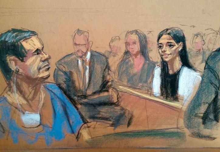 """Bosquejo de la comparecencia de Joaquín Guzmán Loera, """"El Chapo"""" ante un juez de Nueva York este viernes. (Foto: Reuters)"""