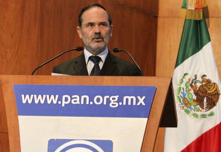 El presidente nacional del PAN, Gustavo Madero. (Notimex)