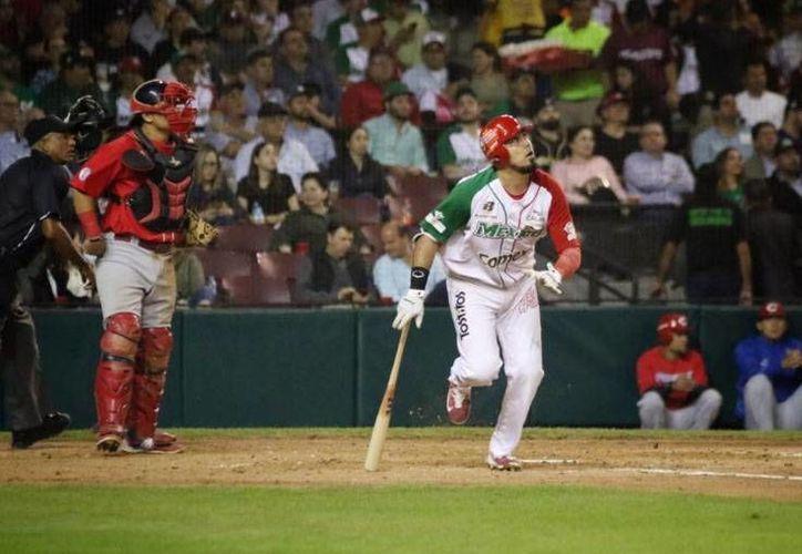 La noche del pasado martes, México cayó en extra innings ante Puerto Rico, en la Final de la Serie del Caribe, celebrada en Culiacán, Sinaloa.(Foto tomada de Twitter/Águilas de Mexicali)