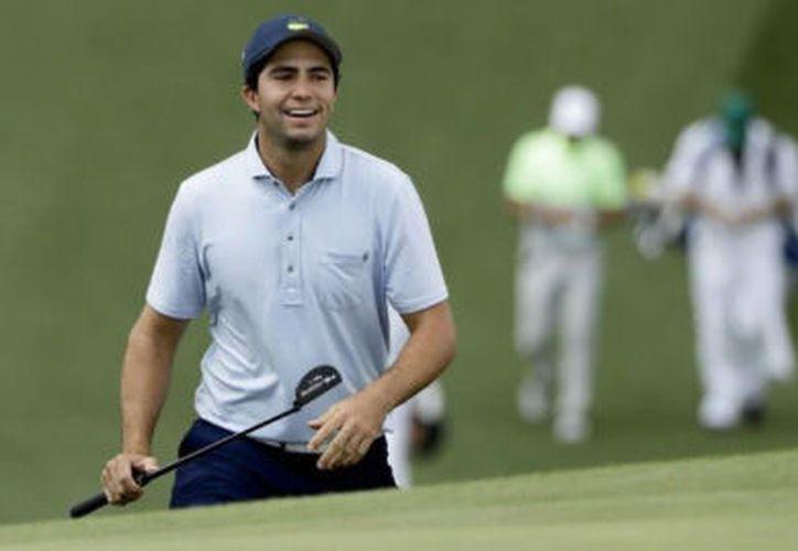 La última vez que un mexicano estuvo en el Masters de Augusta se trató de Víctor Regalado. Entonces faltaban 17 años para que Álvaro Ortiz (foto) naciera. (Foto AP)
