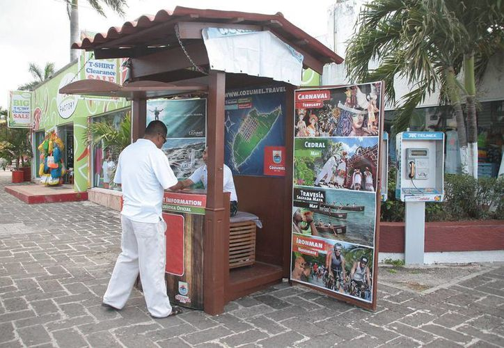 En los modulo turísticos se promocionará la ruta turística. (Julián Miranda/SIPSE)