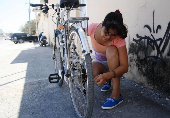 El domingo 15 de febrero se impartirá un taller de mecánica de bicicletas dirigido a mujeres. (Octavio Martínez/SIPSE)