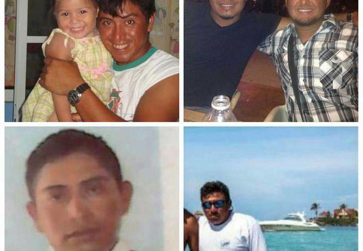 Estos son los pescadores desaparecidos en el mar. (Facebook/Ixchel Tatt Oos)