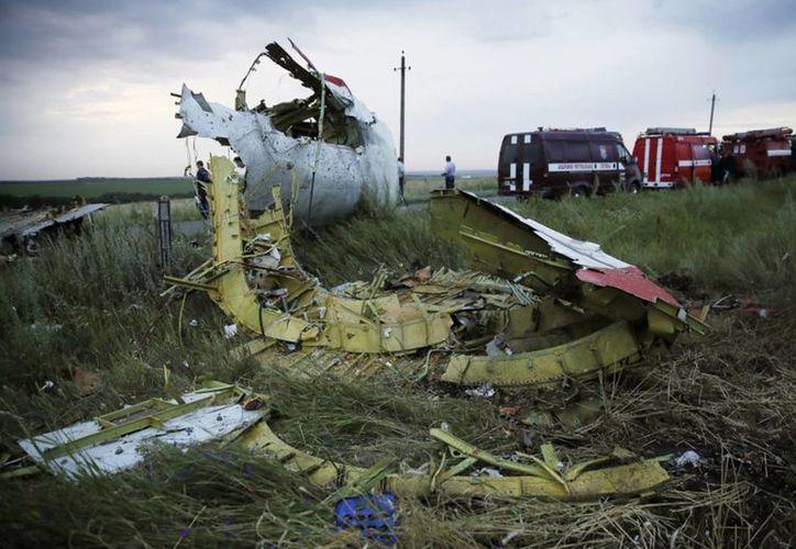 Por la inseguridad, policías internacionales cancelaron viaje a la zona donde cayó el avión de Malaysia Airlines. (Notimex)