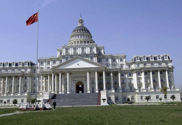 Foto de un edificio gubernamental en la ciudad de Fuyang, en la provincia oriental china de Anhui. (Agencias)
