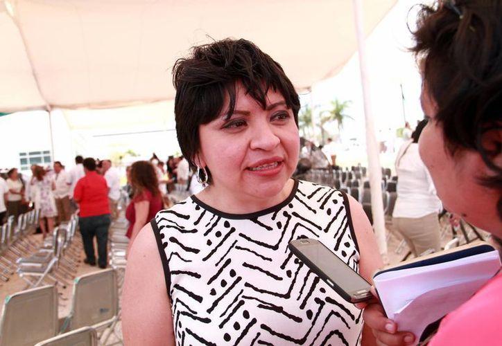 La secretaria técnica de la Comisión de la Red Escudo Yucatán, Martha Góngora Sánchez, espera que se sumen más organizaciones a la red. (Milenio Novedades)