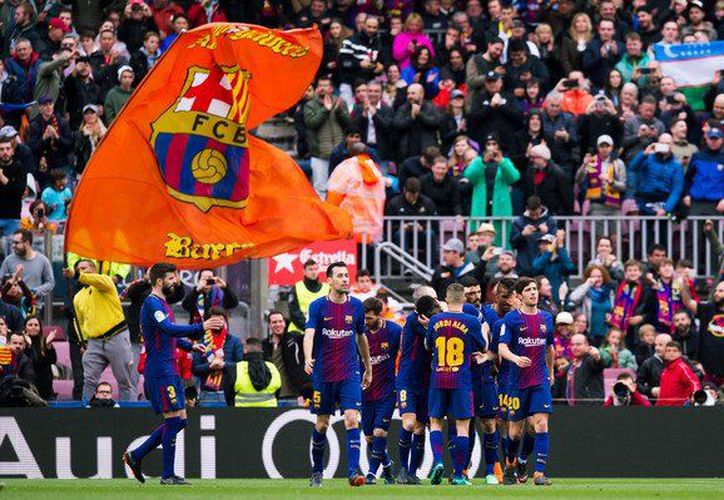 A pesar del esfuerzo del equipo valenciano, el resultado fue favorable para el Barcelona. (Twitter)