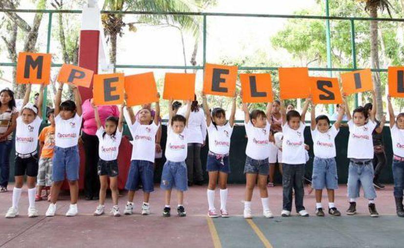"""Con la campaña pretenden atacar el """"Bullying"""" escolar. (Cortesía/SIPSE)"""