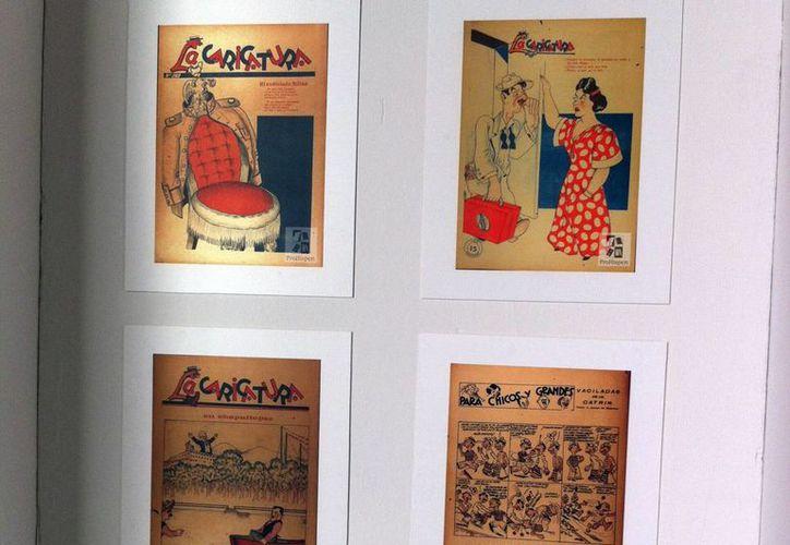 """El periódico """"La caricatura"""" forman parte de la exposición 'Los Tesoros Documentales de ProHispen'. (Milenio Novedades)"""