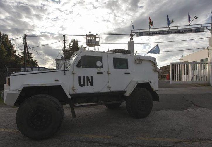 Un vehículo militar de la ONU. (EFE/Archivo)
