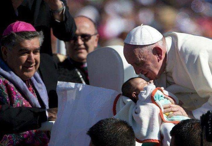 El Papa Francisco en Chiapas. (Foto: La Jornada)