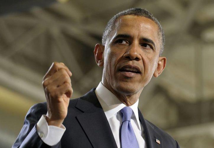 """En su mensaje, Obama dijo que lograría la reducción del déficit con la aplicación de """"reformas difíciles"""" al Medicare. (AP)"""