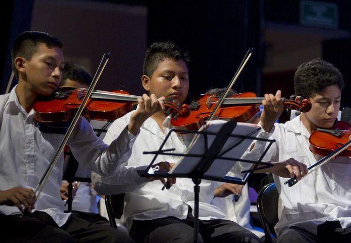 La Orquesta Sinfónica Juvenil de Yucatán prepara un repertorio con música de series de Anime y videojuegos. (Notimex)