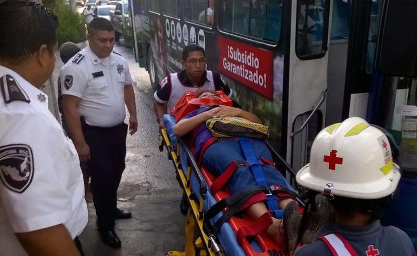 Los hechos ocurrieron entre un autobús de la empresa Autocar y Maya Caribe. (Redacción/SIPSE)
