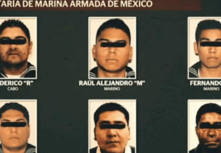 La Semar puso a disposición de las autoridades a los acusados. (Foto: Radio Fórmula)