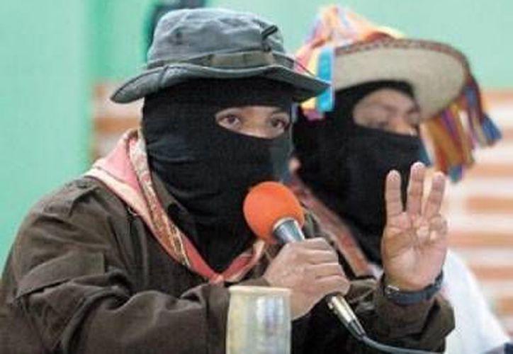Foto de archivo de Moisés, quien fuera teniente insurgente del EZLN. (rvarchivo.blogspot.com)