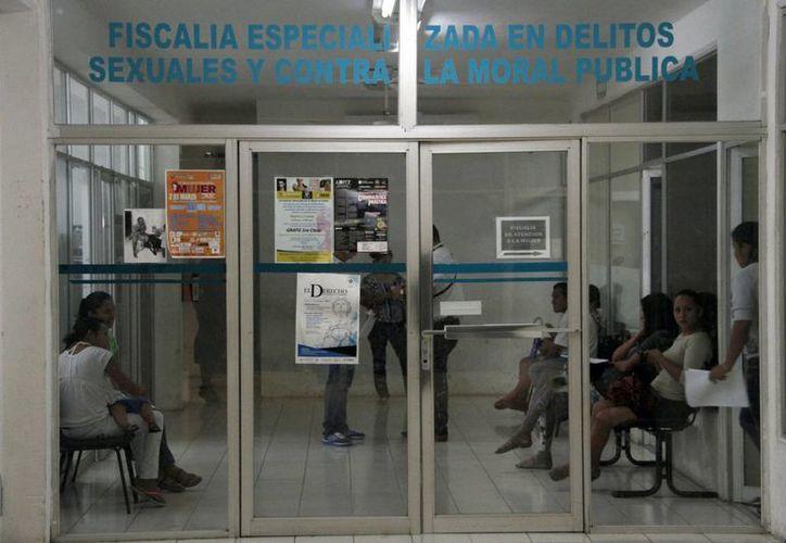 El detenido fue puesto a disposición del Ministerio Público de la Fiscalía Especializada en Delitos Sexuales. (Tomás Álvarez/SIPSE)