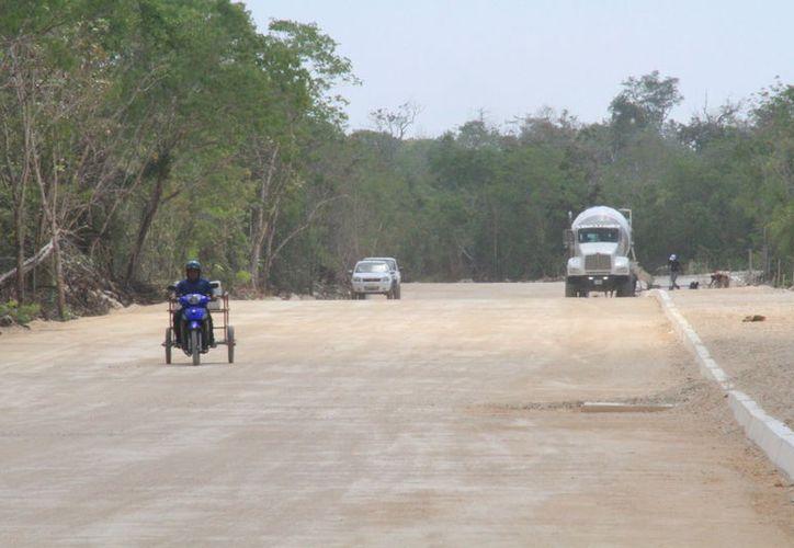 La vialidad está lista para pavimentar. (Sergio Orozco/SIPSE)