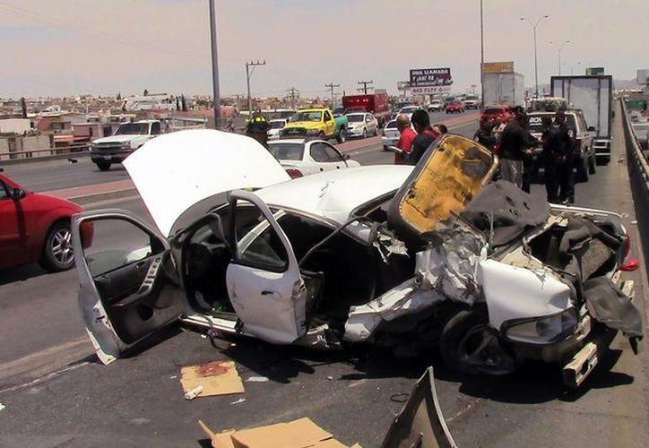 En carretera, el porcentaje de accidentes es del 40%. (Archivo/Notimex)