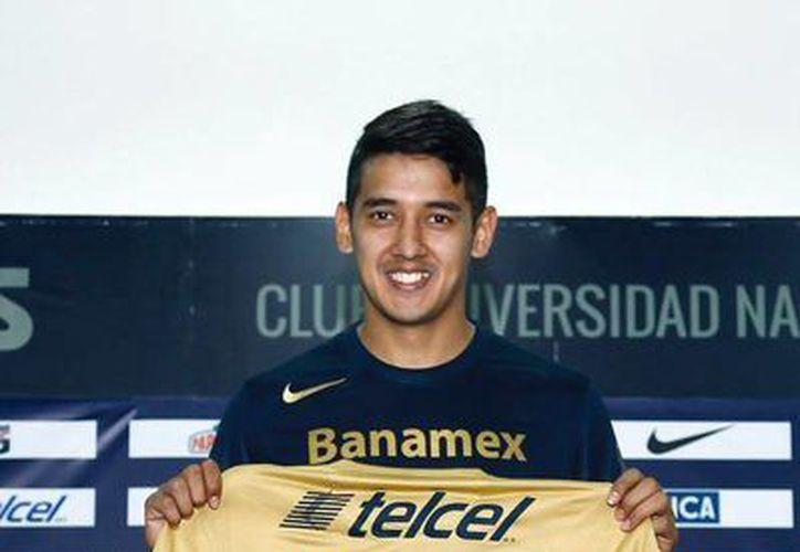 Silvio Torales vive su primer torneo con Pumas de la UNAM, que jugará el fin de semana contra Chivas en Jalisco, a quienes no vencen desde hace más de 30 años. (@pumasmx)
