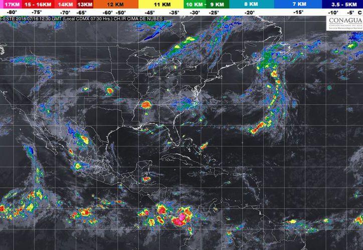 Para hoy se espera la formación de tormentas en Chetumal. (Conagua)