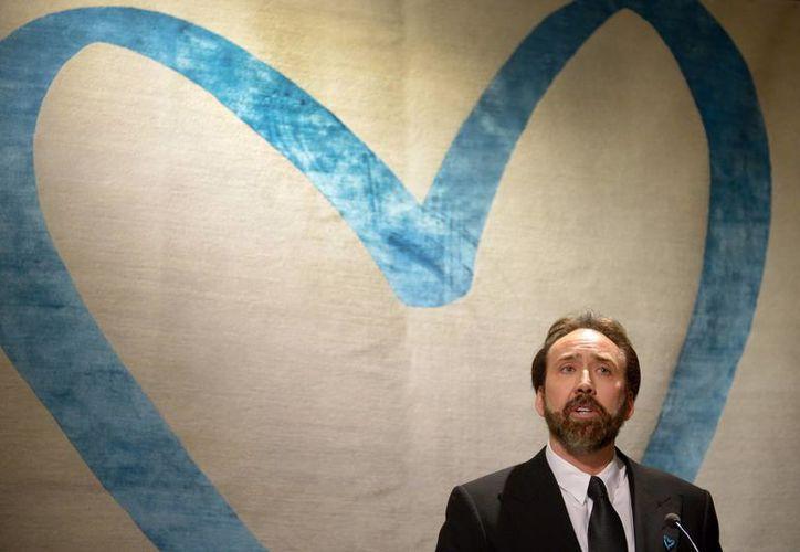 Nicolas Cage participó en una gala benéfica en Viena para recaudar fondos contra la trata de personas. (EFE)