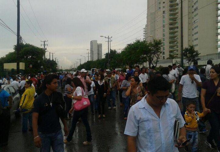 Los docentes empezarán por la avenida Bonampak, recorrerán la avenida Tulum, hasta llegar de nuevo a la SEQ. (Teresa Pérez/SIPSE)
