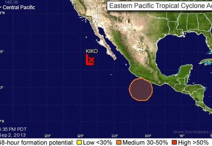 El fenómeno causará algunas precipitaciones en el sur y oriente de la entidad. (noaa.gov)