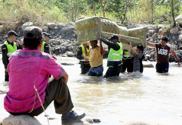 Imagen de la  frontera colombo-venezolana, donde la cifra de colombianos expulsados de Santander, La Guajira, Arauca y Vichada, Venezuela alcanza los mil 482. (EFE/Archivo)