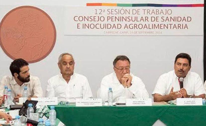 Imagen de la 12a. sesión de trabajo del Consejo penísular de sanidad e inocuidad agroalimentaria en Campeche. (Milenio Novedades)