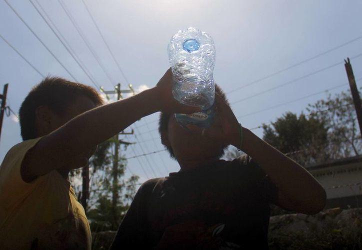 Los especialistas recomiendan consumir muchos líquidos durante la época de fuerte calor. (Juan Albornoz/SIPSE)