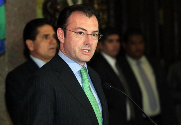 """""""La nueva ley simplifica los impuestos y promueve un ejercicio responsable y transparente del gasto público"""", dijo Luis Videgaray. (Notimex)"""