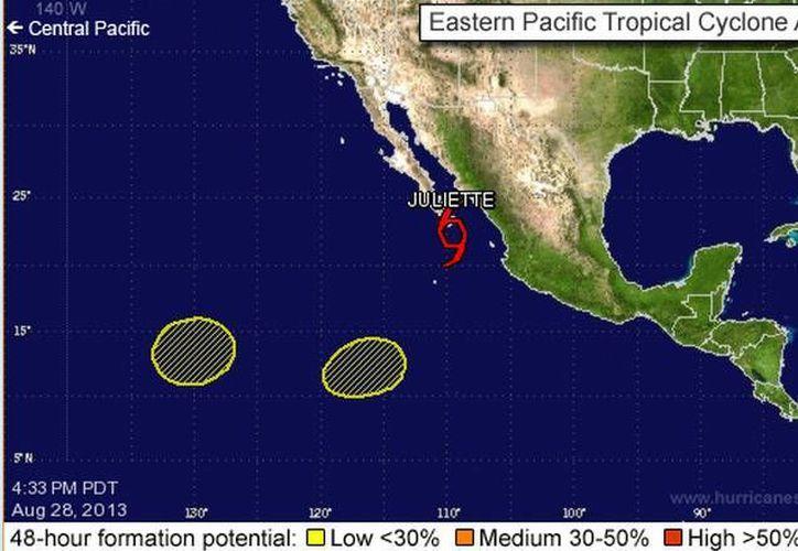Juliette es el décimo fenómeno con nombre de la temporada 2013 en el Pacífico. (nhc.noaa.gov)