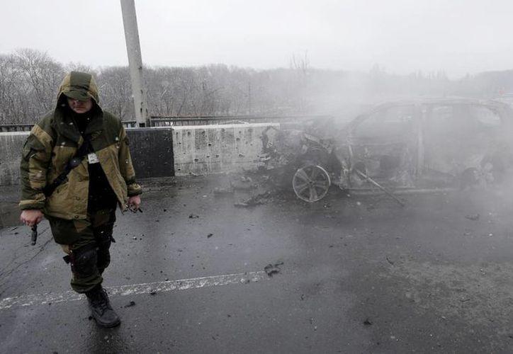 Desde el inicio del conflicto entre Rusia y Ucrania, los separatistas ucranianos han ocupado más territorios. (AP)
