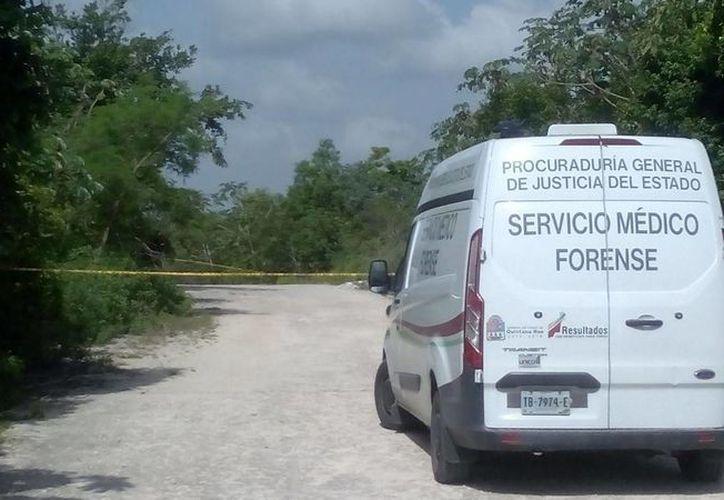 Al lugar llegó el Servicio Médico Forense para el levantamiento del cuerpo. (Eric Galindo/SIPSE)