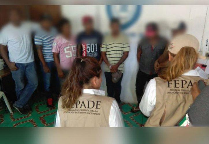 La Fepade detuvo a siete personas en el municipio de Tlacotalpan, Veracruz. (Foto: Excélsior)