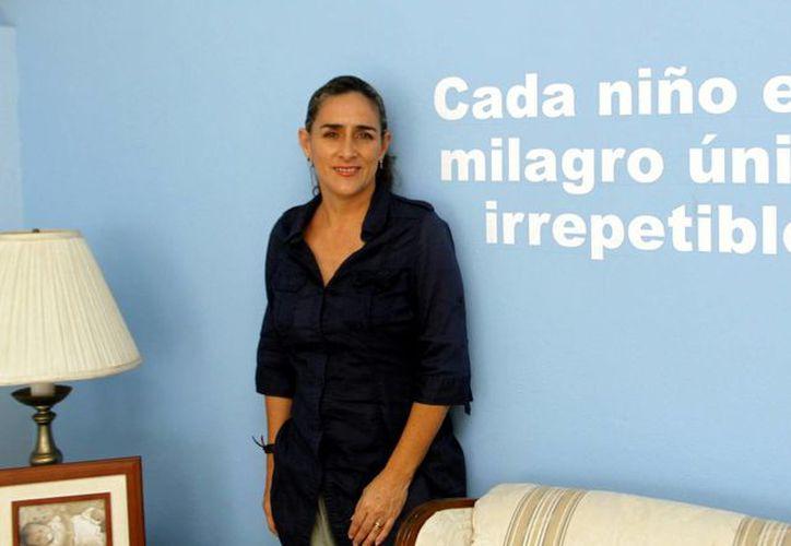 Greta Bolio, de Vifac, agradeció el apoyo a la asociación. (Milenio Novedades)