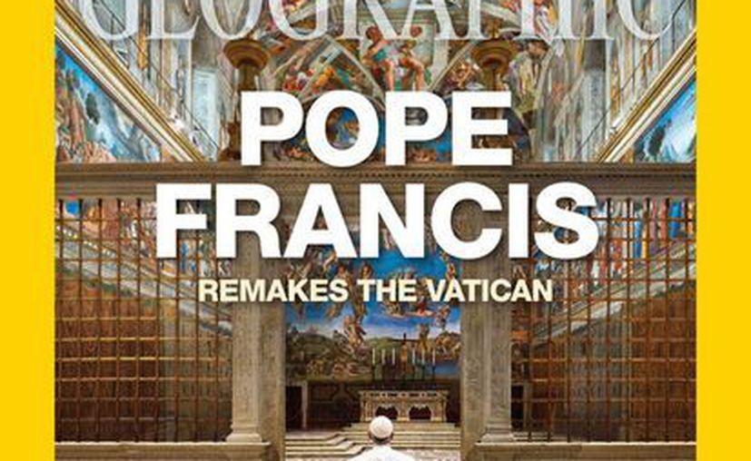 Imagen de la portada de la histórica y prestigiosa revista National Geografic con el Papa Francisco. (vaticaninsider.lastampa.it)