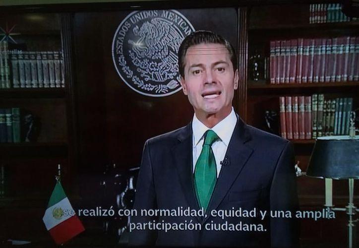 'Hago un llamado a los ciudadanos para que nos unamos, la nación nos necesita a todos, a todos por un bien común', dijo Peña Nieto, presidente de la República. (Captura de pantalla)