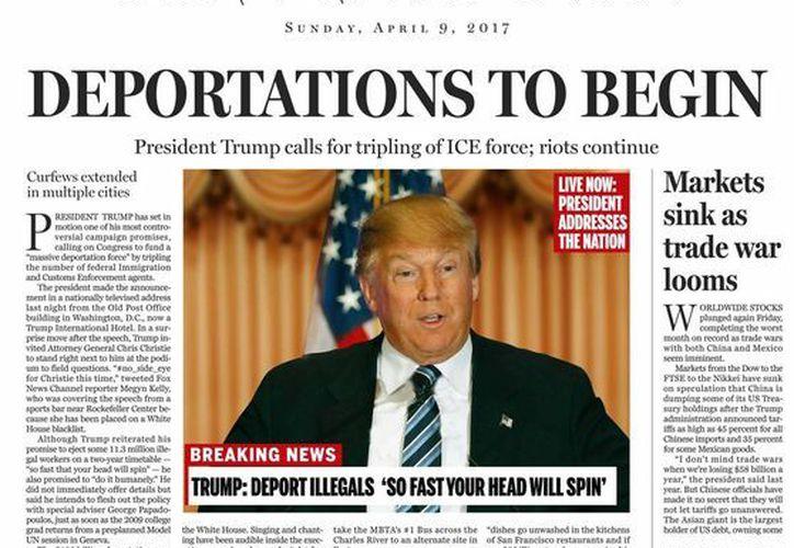En una editorial, The Boston Globe pide al Partido Republicano frenar las aspiraciones de Donald Trump. (AP)